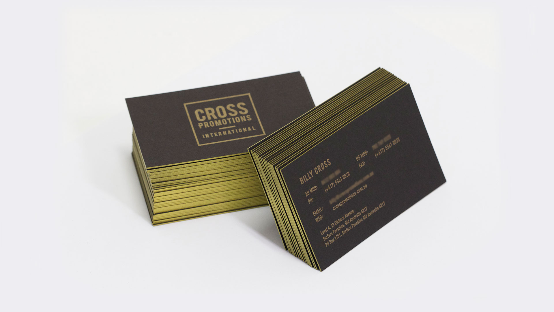 Cross Promotions business card mockups